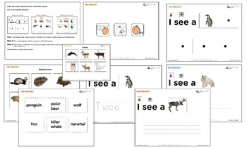 I See Arctic Habitat Adapted Book - Matching, Guided Printing, & Writing