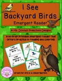 I See Backyard Birds Emergent Reader