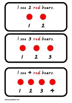 I See ... Bears. - One to one correspondence activity 0-5