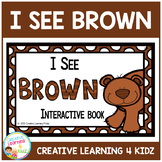 Colors I See Brown Interactive Book Animals