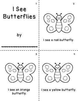 I See Butterflies Coloring Booklet