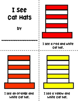 I See Cat Hats Coloring Booklet