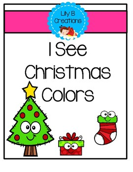 I See Christmas Colors - Emergent Reader