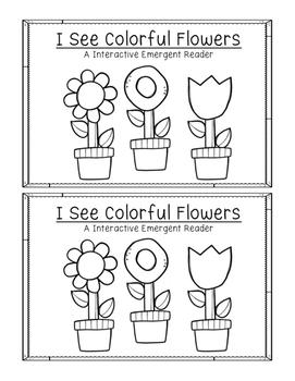 Spring Flower Colors Emergent Reader