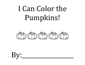 I See Colorful Pumpkins! Colors, following directions, matching activity