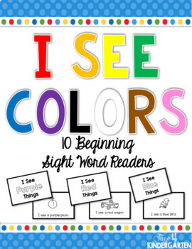 I See Colors 10 Beginning Sight Word Readers