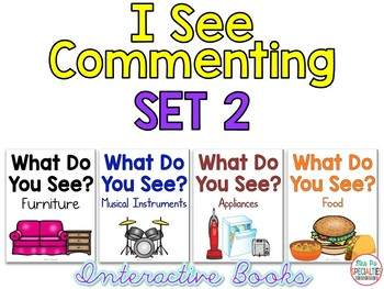 I See Commenting Interactive Books *SET 2*   Level 1