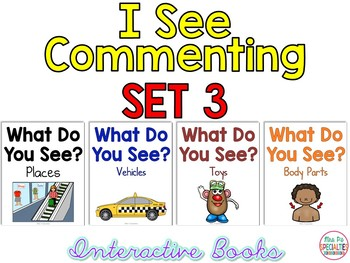 I See Commenting Interactive Books *SET 3*   Level 1