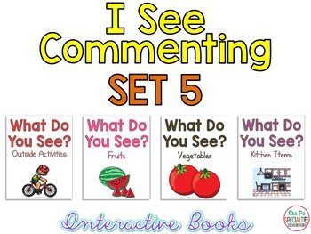 I See Commenting Interactive Books *SET 5*   Level 1