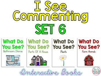 I See Commenting Interactive Books *SET 6*   Level 1