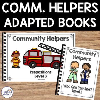 Community Helpers Sentence Building Book, Adapted Book