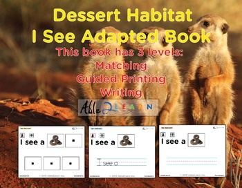 I See Dessert Habitat Adapted Book - Matching, Guided Prin