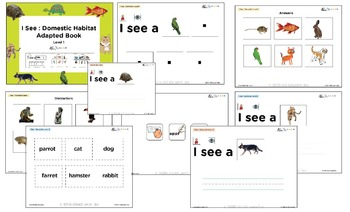I See Domestic Habitat Adapted Book - Matching, Guided Printing, & Writing