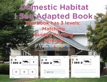 I See Domestic Habitat Adapted Book - Matching, Guided Pri