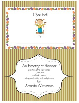 I See Fall Emergent Reader