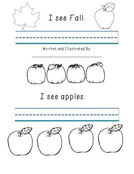 I See Fall Sight Word Book