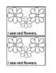 I See Flowers Emergent Reader Book for Preschool & Kindergarten