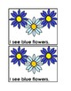 I See Flowers Emergent Reader Book in Color for Preschool