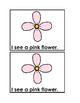 I See Flowers Emergent Reader Book in Color for Preschool & Kindergarten