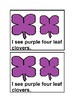 I See Four Leaf Clovers Emergent Reader book in color for