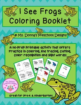I See Frogs Coloring Booklet