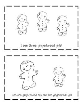 I See Gingerbread Friends Mini Book