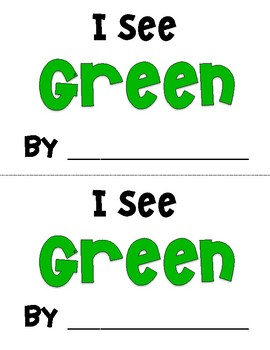 I See Green Emergent Reader
