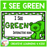 Colors I See Green Interactive Book Animals