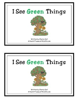 I See Green Things Guided Reader (Gr initial blend)