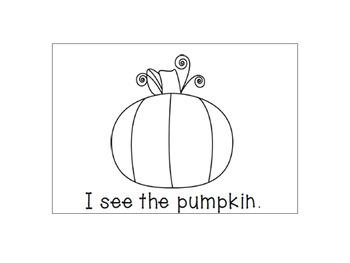 I See Halloween {An Emergent Reader}