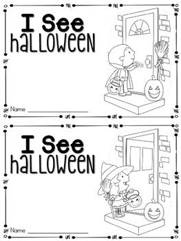 I See Halloween Emergent Reader