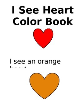 I See Heart Color Book