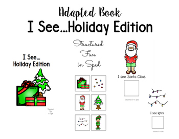 I See...Holiday Edition Adapted Book
