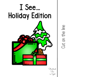 Holiday Adapted Book for Preschool, Pre-K and Special Needs