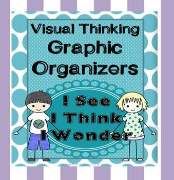 I See, I Think, I Wonder... Visual Thinking Graphic Organizers