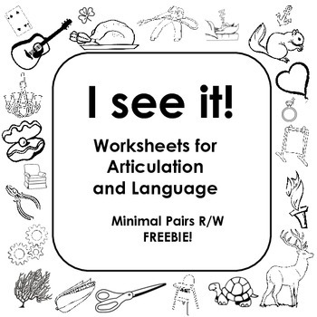 I See It! for language and articulation of Minimal Pairs R/W FREEBIE!