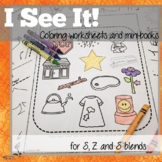 Coloring Worksheets for Articulation of S, Z and S blends: