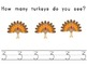 I See Many Turkeys Emergent Reader and Math Pack