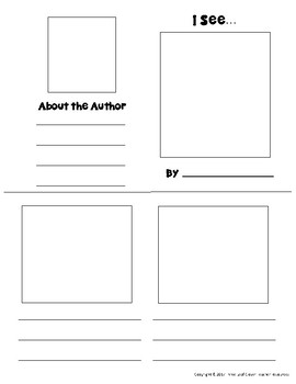 I See Mini Books Template - with Vocabulary Cards - 5 Senses