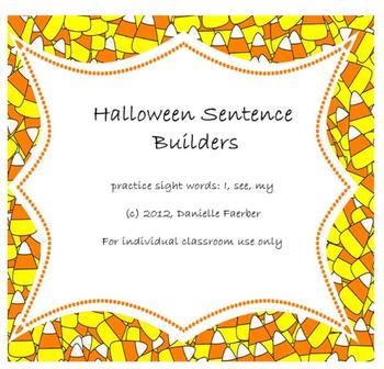 """""""I See My"""" Halloween-Themed Sentence Builders"""