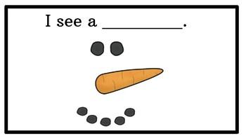 I See My Snowman Emergent Reader