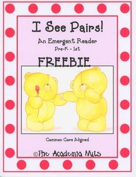 I See Pairs! Emergent Reader FREEBIE
