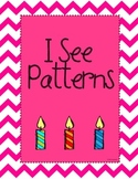 I See Patterns {Emergent Reader}