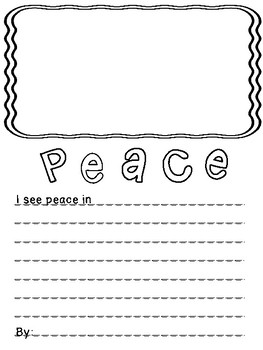 I See Peace In...Veterans Day, Remembrance Day, Religion, Character Keepsake