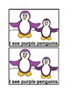 I See Penguins Colors Emergent Reader Book in color for Preschool & Kindergarten