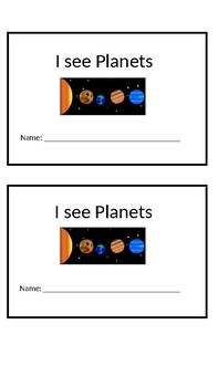 I See Planets Emergent Reader