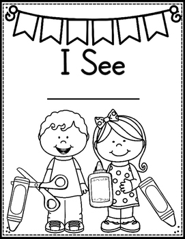 I See (Pocket Chart & Matching Predictable Cut and Glue Book)