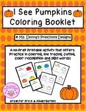 I See Pumpkins Coloring Booklet