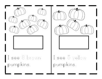 I See Pumpkins! Tens Frames- Color Fall Pumpkin Book