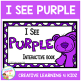 Colors I See Purple Interactive Book Animals